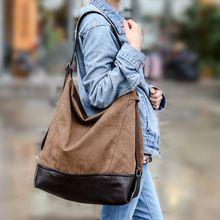 Women Handbags Large Capacity Korean Special Oversized Shoulder Bag Casual Ladies Canvas and PU Leather Handbag Messenger Bags(China (Mainland))