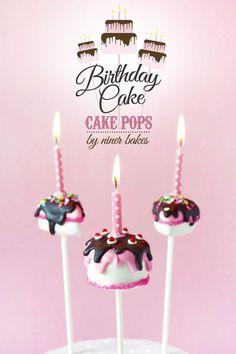 {2 Anleitungen} Hoch leben alle Geburtstagskinder dieser Welt! Geburtstagstorten Cake Pops   niner bakes