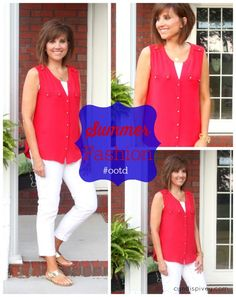 Summer Fashion-Red and White