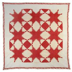 Feathered Stars Quilt c1830s