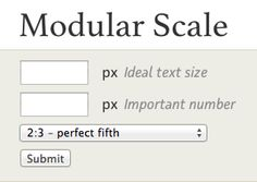 Tim Brown's typographic modular scale
