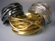 Silberringe - Wickelring goldplattiert - ein Designerstück von GoldschmiedeNorwinVitten bei DaWanda