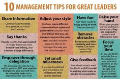 What Are 10 Management Tips For Great Leaders? #infographic