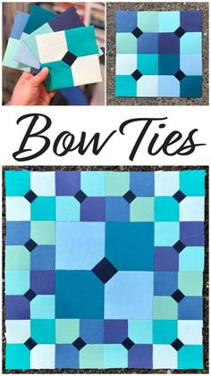 Mister Domestic Bow Ties - NQM Block of the Month - Mister Domestic Barn Quilt Patterns, Paper Piecing Patterns, Pattern Blocks, Quilting Patterns, Cute Quilts, Mini Quilts, Tie Quilt, Quilt Art, Dresden Quilt