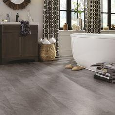 Luxury Vinyl Tile Flooring, Luxury Vinyl Plank, Diy Flooring, Vinyl Tiles, Flooring Ideas, Kitchen Flooring, Basement Flooring, Kitchen Tile, Kitchen Reno