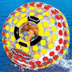 SportsStuff Nuclear Globe - 6 Foot Walk On Water Inflatable Ball - The Green Head This is probably a great workout too Lake Floats, Pool Floats, Hogwarts, Lake Toys, Water Globes, Walk On Water, Pool Toys, Cool Inventions, Cool Pools