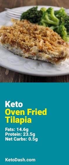Trying this Oven Fried Tilapia and it is delicious. What a great keto recipe. #keto #ketorecipes #lowcarb #lowcarbrecipes #healthyeating #healthyrecipes #diabeticfriendly #lowcarbdiet #ketodiet #ketogenicdiet