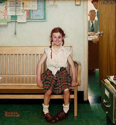Norman Rockwell, Girl with a black eye, 1953. Copertina per il Saturday Evening Post.