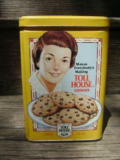 Toll House 1970's Vintage Cookies Tin / Nestle by EclecticGals, $7.50