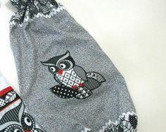 Puxa saco patch aplique coruja