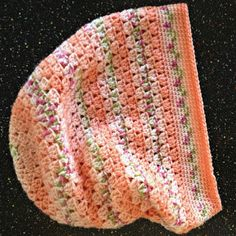 Crocheted Peach-Floral Slouch Hat | SANDRAS ARTISTRY ALASKA (Click on image...)
