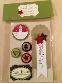 """Heikes Kreativseite: Card Candys zum Thema """" Weihnachten """" D Craft, Craft Fairs, Twine Flowers, Stampin Up, Boxed Christmas Cards, Puppet Crafts, Candy Cards, Scrapbook Embellishments, Punch Art"""