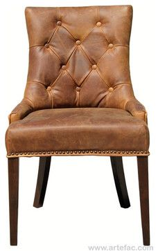 """Rustic Leather Dining Chairs antique brown leather dining room chair"""" with a big farmhouse"""