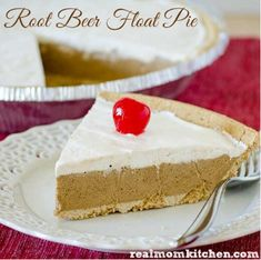 Throw-Together Root Beer Float Pie | TheBestDessertRecipes.com