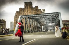 The Brides bridge… the Bund, Shanghai. Friday, 10th June, 2016. Photography Wil Graham