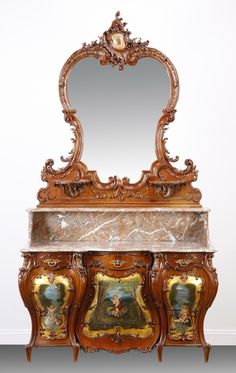 Lot: 6-Piece French Rococo Revival bedroom suite, Lot Number: 0053, Starting Bid: $8,500, Auctioneer: Great Gatsby's Auction Gallery, Inc., Auction: Fine Antiques, Art, Rare & Fun Collectibles, Date: April 20th, 2013 EEST