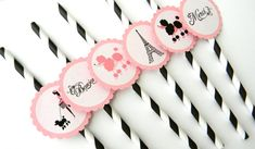 Paris Theme Party Straws by thepartypenguin on Etsy, $14.00