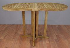 """Teak Oval Garden Table 48"""""""