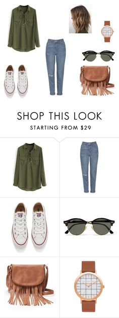 """Untitled #61"" by d-divaa on Polyvore featuring WithChic, Topshop, Converse, Ray-Ban and Apt. 9"