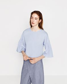 Image 2 of FRILLED SLEEVE TOP from Zara