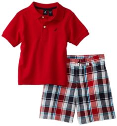 Nautica Sportswear Kids Boys 2-7 Shirt and Short 2-Piece Set: http://www.amazon.com/Nautica-Sportswear-Shirt-Short-2-Piece/dp/B005OCPOJQ/?tag=greavidesto05-20