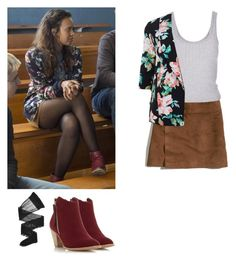 """Jessica Davis - 13 reasons why / 13rw"" by shadyannon ❤ liked on Polyvore featuring Hollister Co., Topshop, Dorothy Perkins and Wolford"