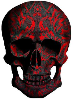Use this skull as your WALLPAPER on cover of your mobile phone ? Well it's decoration is very 70's / 80's reminiscent of that era of WALLPAPER ✔️