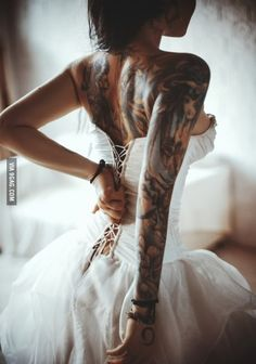 An inked bride