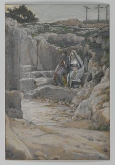 The Two Marys Watch the Tomb (Les deux Maries observent le tombeau) : James Tissot : Free Download & Streaming : Internet Archive