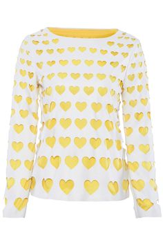 Heart-shaped Cutout Dual-tone T-shirt #ROMWEROCOCO