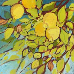 I love lemons! The smell, the taste, the beautiful color!  I wish I had painted this.