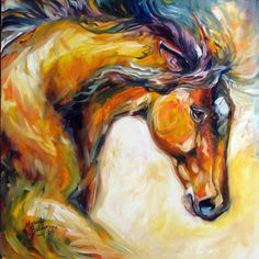 DETERMINATION ~ EQUINE ART ORIGINAL by M BALDWIN
