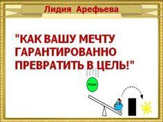 Тренинг КАК вашу МЕЧТУ гарантированно превратить в ЦЕЛЬ - Лидия Арефьева...
