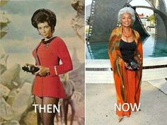 Uhura then and now