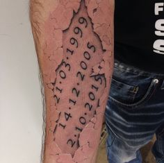ripped skin tattoo