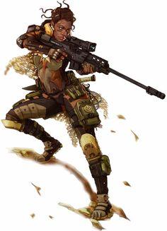Human Sniper Operative - Starfinder RPG (Core Rulebook Art)