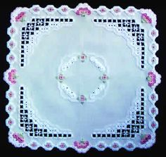 SALE - only: $4.87!  This lovely design was stitched on 22-count light grey Hardanger fabric.  Suggested substitute is 22-count water gray Hardanger fabric (180-70).  The threads required are DMC Pearl Cotton Size 8