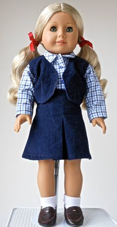 """BROWNIE Scout Uniform Skirt Blouse Cap Doll Clothes For 18/"""" American Girl Debs"""