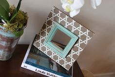 Distressed+Picture+Frame+Bamboo+Vintage+White+by+deltagirlframes,+$60.00