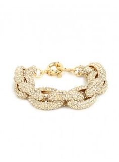 Pave Link Bracelet - J Crew Inspired Pave Bracelet - Classic Chunky Gold link Bracelet with Embedded Crystals- Pave Link Bracelet Gold Link Bracelet, Link Bracelets, Beaded Bracelets, Stone Bracelet, Jewelry Shop, Jewelry Accessories, Fashion Accessories, Bridal Accessories, Handmade Jewelry