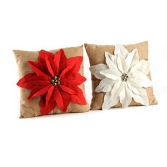 Poinsettia Jingle Throw Pillow | Kirkland's