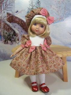 """""""Gingerbread"""" Made for 10"""" Ann Estelle ~ 10"""" Patsy ~ by TDDesigns"""