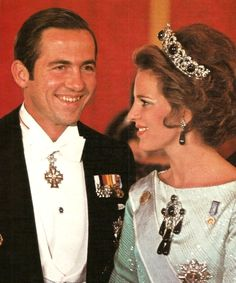 carolathhabsburg:  King Constantinos II of Greece and consort, Queen Anne Marie. Early 70s