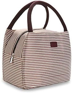 340e72364c7 Amazon.com  OZCHIN Insulated Lunch Bag For Women Compact Reusable Lunch  Tote Cooler Bag