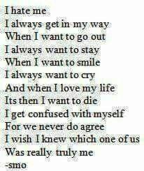 I hate me somedays