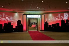 Corinthian Events Boston Paint the Town Red Entryway « Corinthian . Red Party Themes, Event Themes, Party Ideas, Event Lighting, Corinthian, New York Wedding, Banquet, Event Planning, Charity