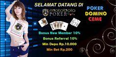 Motobolapoker yang memberikan cara mudah untuk bermain judi poker online dengan minimal deposit 10.000 dan di dukung permainan live poker online.