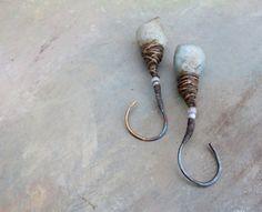from the nest..Artisan Earrings porcelain by greybirdstudio