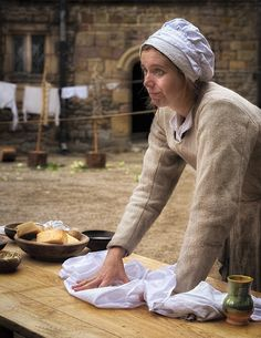 The Washer Woman, The Tudor Group at Haddon Hall, Derbyshire.