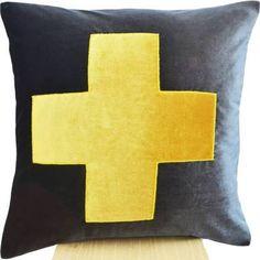 swiss cross pillow - Google Search